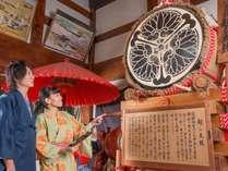 飛騨古川祭りで使用されたお越し太鼓、大きな太鼓でお出迎え!