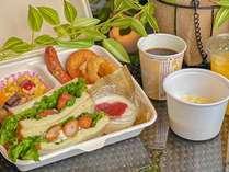 【朝食】スタッフがお部屋にお届けいたします☆イメージ例