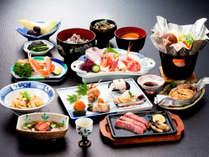 *【夕食一例/グレードアップ】妙高ならではの山菜や、日本海の幸などを使った納得のメニュー!