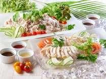夏のお祭バイキング!6月1日~8月31日開催!茹で豚の冷菜・蒸し鶏の冷菜