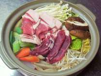 【2食】かじむら名物「しし鍋」を味わう人気プラン8100円~