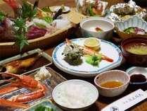 ■ご夕食例■駿河湾で水揚げされた新鮮な魚介類を使ったお食事。戸田でしか味わえない海の幸をどうぞ☆