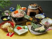 【リーズナブル♪】少量控えめ☆山の幸・海の幸を盛り込んだ山海鍋会席プラン