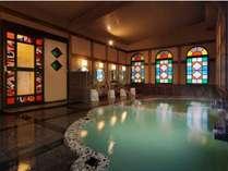 ◇大正ロマンの湯。千曲源泉と上山田源泉、2本の温泉をお楽しみください。