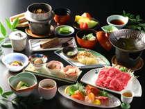 【グレードアップ会席コース】 厳選信州の旬食材を使用した料理長渾身の料理の数々をご賞味いただけます。