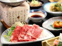 【名月】柔らかく美しい絶品『信州牛』をしゃぶしゃぶorすき焼きで堪能する会席プラン◇趣異なる6つの湯
