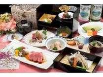 いつもよりちょっこと贅沢に滋賀の名産牛近江牛も付いた会席料理