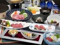 近江牛炙り寿司/近江牛ロース溶岩焼/選べる小鍋/近江牛炙り どれも絶妙な美味しさ♪