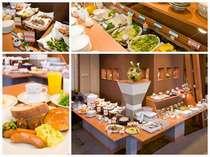 『朝食バイキング』 約40種類と品数が豊富です