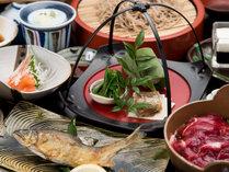 【夕食付】<一人旅歓迎>山の恵みと温泉を堪能!野生のイノシシのお鍋や木の芽そばをご用意