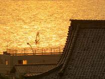 材木座・光明寺の夕景