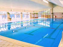 屋内温水プール(25m×6レーン)…温水プールなので一年中泳げます!