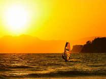 材木座海岸の夕日