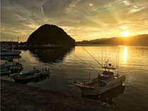 周辺景色:港の夕景は趣があります!