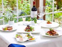 <季節のフレンチフルコース・グレードアップ>アートのような美しい料理の数々をお楽しみください♪