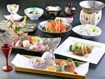 【海の幸づくし会席】選べる地酒と共に旬の日本海の幸をお楽しみください※イメージ