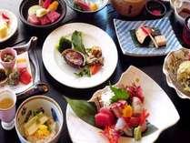 【ぐるめコース・春】牛に鮑ステーキ、鰆、白魚の桜蒸しなど季節を味わう贅沢な全14品※イメージ
