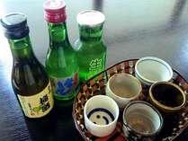 【地酒飲み比べ】オススメの3種をご夕食時にお出しいたします。飲み比べをお愉しみください♪※イメージ