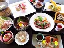 【レディース会席・春】鯛しゃぶやいちごスイーツなど春らしい華やかなお料理をご用意♪※イメージ
