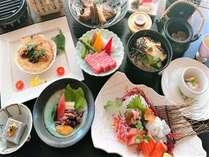 【夕食】能登牛&海の幸会席/能登牛や鯛料理など当プラン限定のプチ贅沢メニューをご用意※イメージ