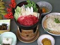 【秋田牛すき焼き鍋+稲庭うどん】郷土が育んだ厳選食材~ちょっと贅沢なご夕食♪