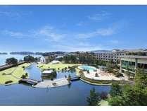 7000坪の庭園と絶景の松島の島々を望む、眺望抜群の温泉宿