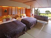 松しま倶楽部【眺望和ツイン(2~3階)】庭園と松島を眺める寛ぎの客室