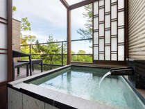 2階フロアにある「ビューバス付き眺望和ツイン洗心」(各部屋デザインが異なります)
