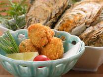 牡蠣料理もおいしい冬季限定で味わえる。