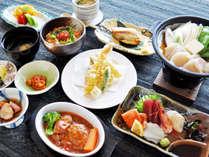 【(魚介御膳)夕食一例】これぞ北海道!新鮮海の幸をご堪能くださいませ。