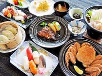 【(枝幸プラン)夕食一例】枝幸の新鮮魚介類をご堪能ください。