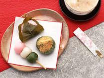 ★特典付★女子にうれしいお茶菓子とおかみさん手作りシフォンケーキ付 スイーツ男子も大歓迎