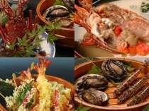 食べたい!天然伊勢海老と黒あわびの踊り焼きプラン