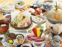 日帰りプラン【旬の昼会席膳イメージ】※時季により料理内容・器等が変わる場合がございます。