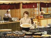 四季折々の和食を中心とした「ふるさとバイキング」。