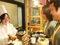 四季折々の和食を中心とした「ふるさとバイキング」 選べる釜めし