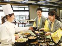 四季折々の和食を中心とした「ふるさとバイキング」