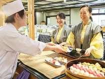 四季折々の和食を中心としたメニュー 握り寿司