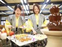 四季折々の和食を中心としたメニュー 人気のデザートコーナーも♪