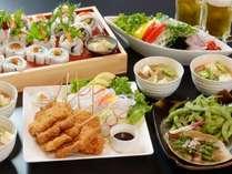 ホテル花巻7F「羽山」 和食処の涼夏逸品※4名様分の料理イメージ