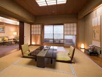 【特別室 ローズスイート(和室10畳+リビング+ツイン 117平米)】