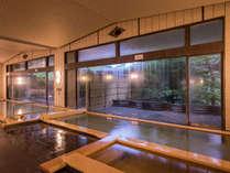 【ホテル紅葉館 紅葉の湯】ご宿泊のお客様はホテル3館の湯めぐりをお楽しみいただけます。