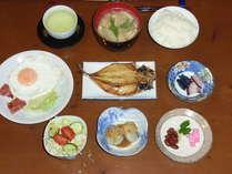 朝食(和風)の一例