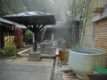 桧風呂や陶器風呂など9種類のお風呂が楽しめる「星の湯」