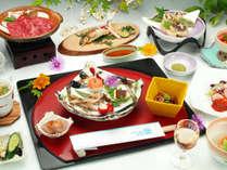 <夏季限定>涼風会席 は、十津川グルメたっぷり!この機会に是非お召し上がりください。