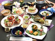 【山桜会席】山菜と共に郷土料理をふんだんに使用した、彩り豊かな春の会席料理です!
