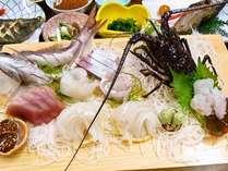 伊勢海老又は鮑つき!房総の天然地魚プラン/夕食おさしみ例 (二人前)