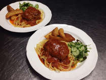 *<夕食一例>お食事は食堂でのご用意です。,福井県,ビジネス旅館まつや