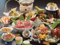 新潟厳選食材の旬菜と新鮮な魚介のコラボに和牛など♪当館板長が腕をふるった自慢のお料理です!