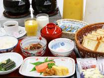 ご朝食の和定食&ミニバイキング